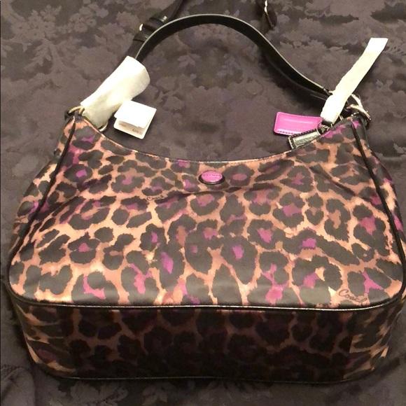 Coach Handbags - Brand new violet jaguar Coach hobo bag.